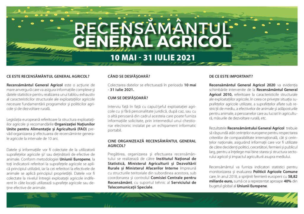 Recesamantul Agricol 2021
